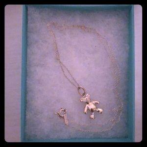 Tiffany & Co. Teddy Bear Charm Necklace